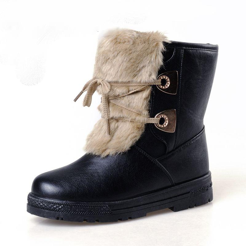 凯蒂氏 pu皮假兔毛 高跟女士雪地靴k559[黑色(运动鞋码) 35]