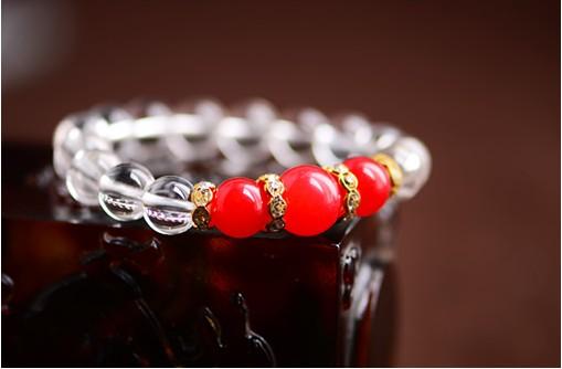 红水晶转运珠戒指编法图解