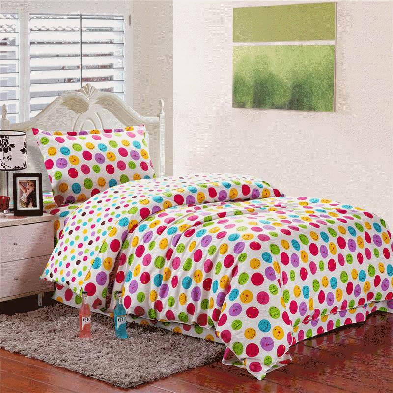 慧欣家纺 全棉纯棉斜纹印花床单三件套床上用品儿童件套[可爱的你 1m