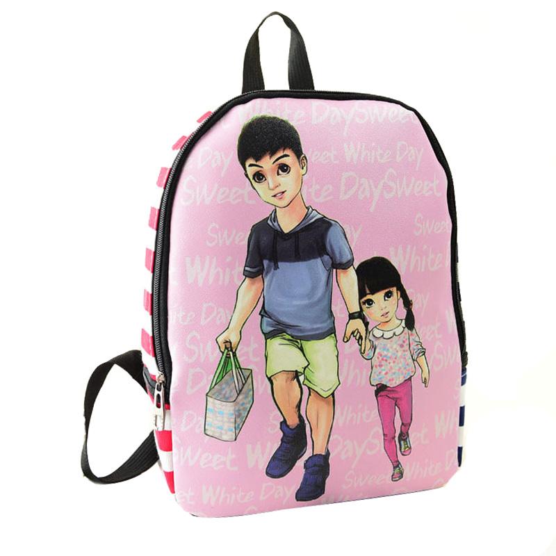 爱玛诺 卡通印花双肩包休闲背包学生包爸爸去哪儿mn117[田亮]图片