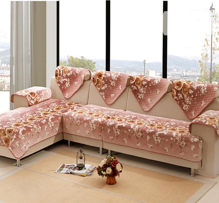 爱玛诺 欧式高档贵妃法兰绒沙发垫坐垫时尚沙发巾组合