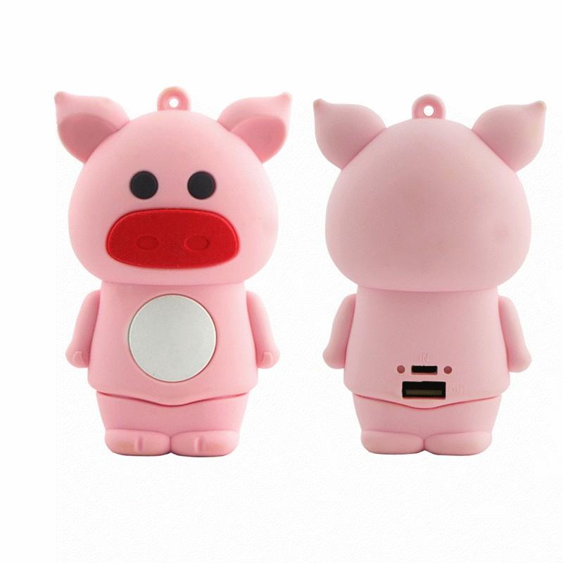 艾可优i-cue 超萌十二生肖软胶6000mah移动电源g28[萌萌猪 粉色 17.