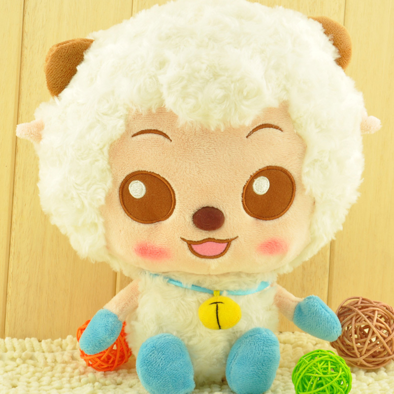可爱版喜羊羊美羊羊12寸毛绒玩具公仔 男女儿童生日礼物 喜羊羊 12寸